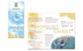 Microsoft Publisher Program Template Christian Church Brochure Template Word Publisher