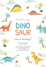free dinosaur party invitations dinosaur birthday invitation template free greetings island