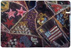 The History of American Quiltmaking: An Interview with Merikay ... & This crazy quilt from the late 19th century, by Clara Graf Lederer Stanton,  features a profusion of embroidery in cotton and chenille thread. Adamdwight.com