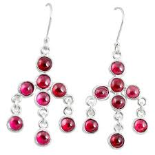 earrings image earringsimage natural red garnet 925 sterling silver chandelier earrings jewelry m27807