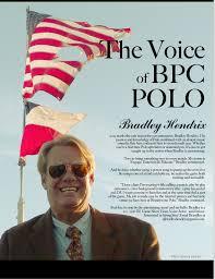 Announcer Profile: Bradley Hendrix... - Brandywine Polo Club ...