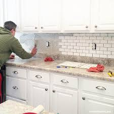 Installing A Glass Tile Backsplash Fascinating How To Install A Kitchen Backsplash The Best And Easiest Tutorial