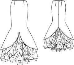 Mermaid Skirt Pattern Gorgeous Mermaid Skirt Costume 482484 48 Sewing Patterns BurdaStyle