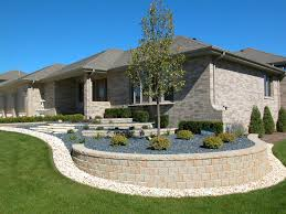 Front Yard Retaining Wall Designs 3 Design Tips For Sloped Front Yard Landscape In Ottawa