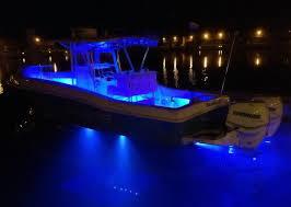 2x 2 24 blue led boat deck light waterproof bow trailer boat led deck lights