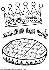 Galette Couronne Des Rois Colorier En Couleur Gommettes