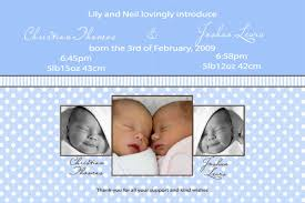 twin birth announcements photo cards birth announcements and baby thank you photo cards for twin boys