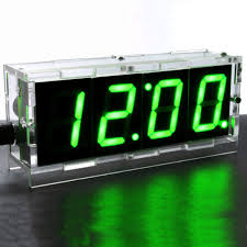do it yourself digital led clock kit w protective case