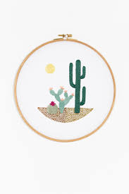 Cactus Embroidery Pattern Simple Decorating Ideas