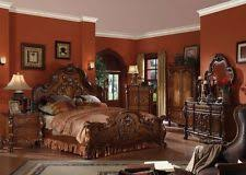 antique bedroom set. formal luxury antique dresden cherry eastern king size 6pc bedroom set furniture a