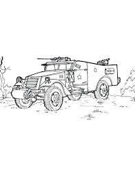 coloring army vehicles coloring pages print