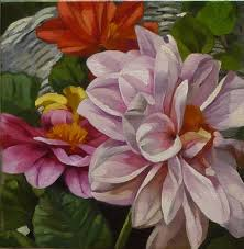 pink dahlias by joanna olson art flowers 1 dahlia paintings