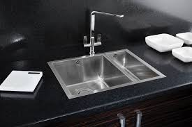 Clearwater Cascade Single Bowl And Drainer White Or Gloss Black White Inset Kitchen Sink