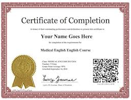 Online Certificates Free Medical English Online Course