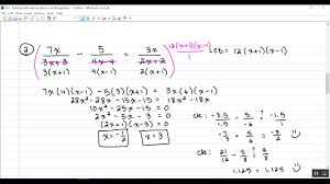 8 6 solving rational equations and inequalities