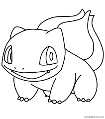 Small Picture Bulbasaur Coloring Page Pokemon