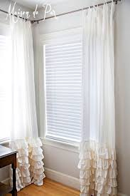 DIY Curtains: Give your curtains a touch of romance by adding feminine  ruffles to the