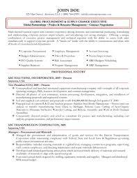 Best Executive Resumes Samples Executive Resume Samples Management Sample Global Procurement 18