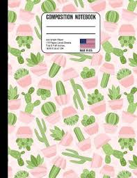 Composition Notebook 4x4 Graph Paper Pink Cactus Back To
