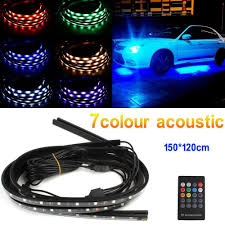 Automotive Led Light Controller 4 In 1 12v Rgb Led Car Interior Decoration Lamp Auto