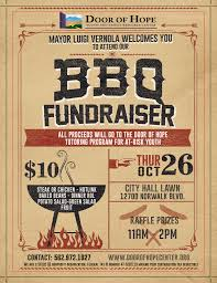 Bbq Fundraiser Flyer Bbq Fundraiser Oct 26 Door Of Hope
