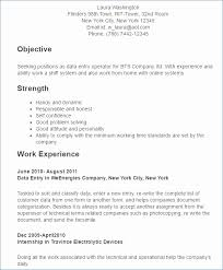 Resume Format For Computer Operator Job Unique Data Entry Operator