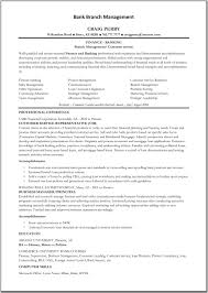 Bank Manager Resume 9 Financial Branch Manager Example