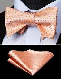 bow tie handkerchief set party wedding mens gift clic polka dot pink orange self bow tie woven silk pocket square set bd612ns ties skinny tie from