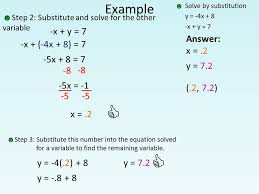 example solve by substitution y 4x 8 x y