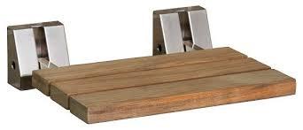barclay 16 teak wall mount slatted folding shower seat