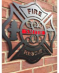 personalized metal maltese cross firefighter monogram door hanger personalized gift monogrammed gift on maltese cross firefighter metal wall art with new savings on personalized metal maltese cross firefighter