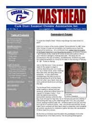 Newsletter Mastheads Cdsoa Inc Masthead Newsletter