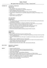 Resume Janitorial Resume Sample Samples Velvet Jobsr Job