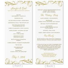 Microsoft Wedding Program Templates Wedding Program Template Download Instantly Edit Yourself