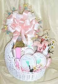wicker baby binet gift basket