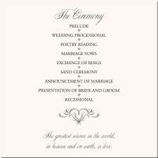 sample wedding ceremony program flourish heart wedding program examples wedding program wording