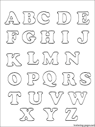 Coloring Pages Of Alphabet Printable Alphabets For Kids Coloring