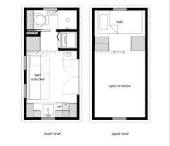 8x16 tiny house floor plan sample from the book Tiny House Floor Plans  (find it