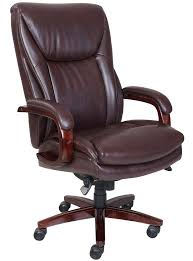 la z boy edmonton big tall leather executive office chair in coffee