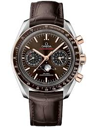 omegamens sdmaster moonwatch leather strap watch 304 23 44 52 13 001