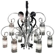 bellart casanova handmade wrought iron hanging lamp with handmade glass elements