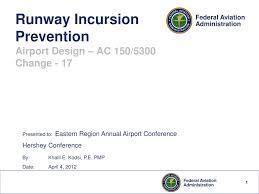 Runway Design Ppt Ppt Runway Incursion Prevention Airport Design Ac 150