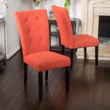 angelina dining chair set of 2 by christopher knight home orange dining chairs c29