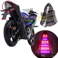 Lovely Großhandel ABS Motorrad Hinten LED Bremslicht Rücklicht Blinker Licht Für  Yamaha R15 2014 2016 Motocicleta Integrierte Beleuchtung Von Seasonyi1, ...