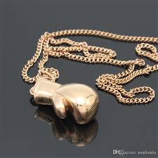 whole stainless steel boxing glove necklace sports equipment gold silver boxing glove pendant hip hop jewelry for men women birthday gift 161242 silver