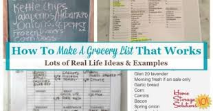 How To Make A Grocery List How To Make A Grocery List That Works