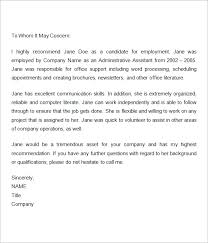sample letter employee employment recommendation letter for previous employee reference