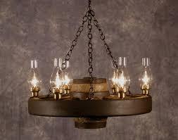 image of wagon wheel chandelier