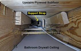 How To Replace A Bathroom Exhaust Fan And Ductwork Drywall Ceiling - Bathroom venting into attic