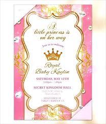 Royal Invitation Template Royal Invitation Template Gold Princess Baby Shower Wedding